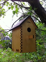 Press fit bird house